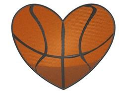 Basketball Heart embroidery design
