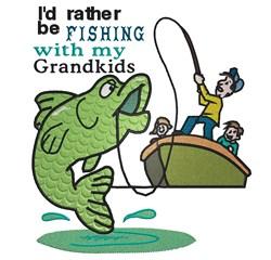 Fishing Grandkids embroidery design