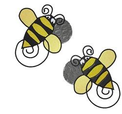 Bee Swirls embroidery design