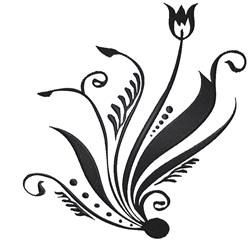 Tulip Swirl embroidery design