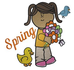 Spring Girl embroidery design