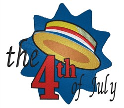 4th of July Hat embroidery design