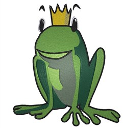 Frog Crown embroidery design