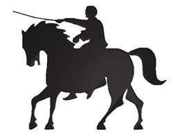 Man Horse embroidery design
