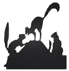 Cats on a Roof embroidery design