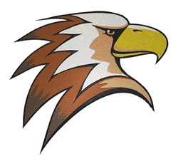 Brown Eagle embroidery design