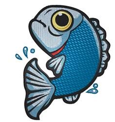 Blue Fish embroidery design