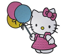 Party Hello Kitty embroidery design