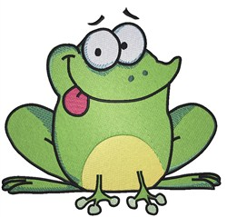 Frog Cartoon embroidery design