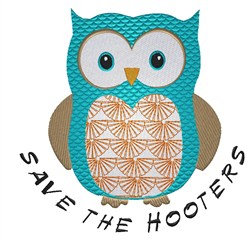 Save the Hooters embroidery design