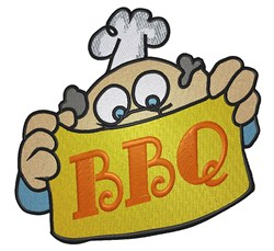 BBQ Chef embroidery design