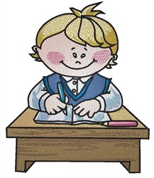 Schoolboy Desk embroidery design