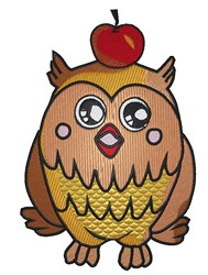 Owl with Apple embroidery design