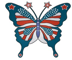 Patriotic Butterfly embroidery design