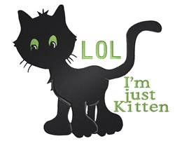 Just A Kitten embroidery design