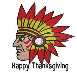 Happy Thanksgiving Indian embroidery design