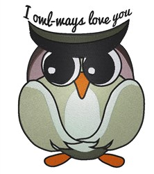 Owl-ways Love embroidery design