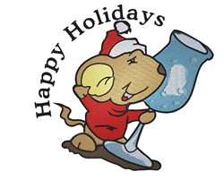 Happy Holidays Mouse embroidery design
