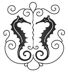 Seahorse Swirl embroidery design
