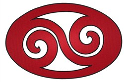 Oval Swirl embroidery design