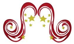 Star Swirls embroidery design