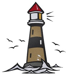 Nautical Lighthouse embroidery design
