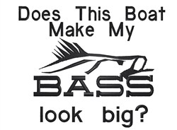 Big Bass embroidery design
