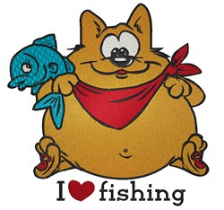 Fishing Cat embroidery design