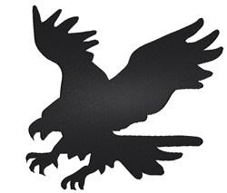 Eagle Silhouette embroidery design