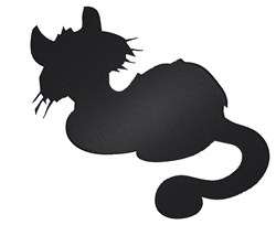 Kitten Silhouette embroidery design