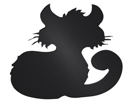 Cat Silhouette embroidery design