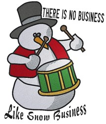 Snow Business embroidery design