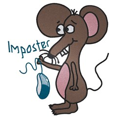 Mouse Imposter embroidery design
