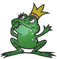 Frog Prince embroidery design