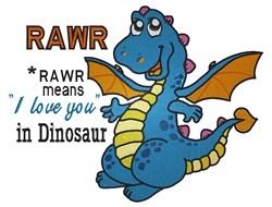 Dragon Rawr embroidery design