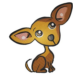 Chihuahua Puppy embroidery design