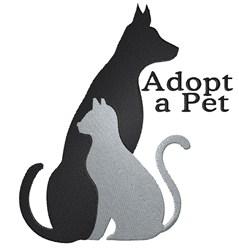 Adopt A Pet embroidery design