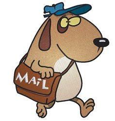 Mailman Dog embroidery design