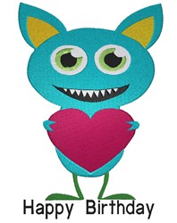 Birthday Monster embroidery design