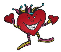 Heart Jester embroidery design