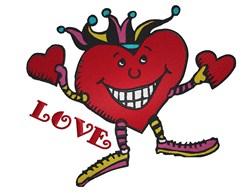 Jester Love embroidery design