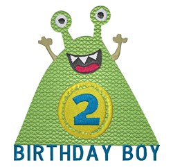 Monster Birthday 2 embroidery design
