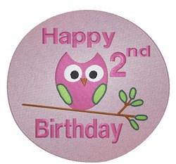 Happy 2nd Birthday embroidery design