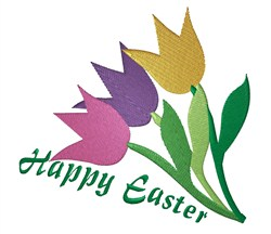 Easter Tulips embroidery design