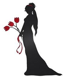 Bride Silhouette embroidery design