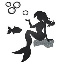 Mermaid & Fish embroidery design