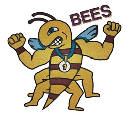 Bees embroidery design