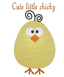Cute Little Chicky embroidery design
