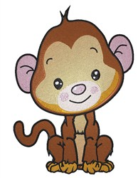 Baby Monkey embroidery design