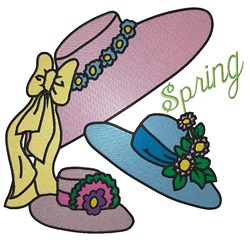 Spring Bonnets embroidery design